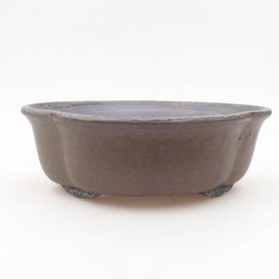 Ceramic bonsai bowl 18 x 16 x 6 cm, color brown - 1