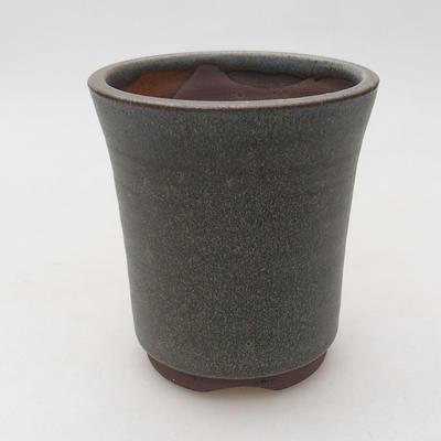 Ceramic bonsai bowl 9 x 9 x 10.5 cm, gray color - 1