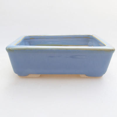 Ceramic bonsai bowl 10.5 x 8.5 x 3 cm, color blue - 1