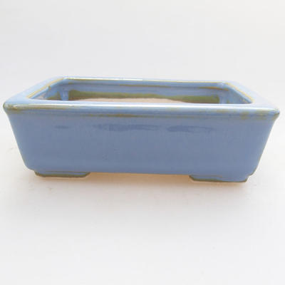 Ceramic bonsai bowl 10.5 x 8.5 x 3 cm, color blue - 1