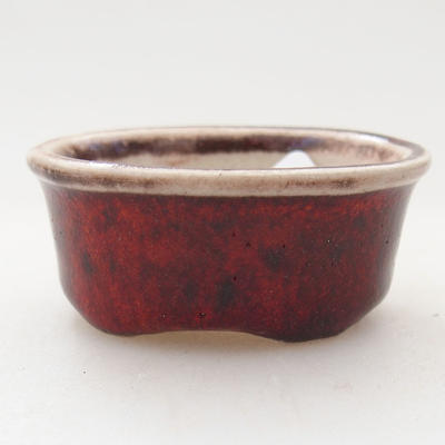 Mini bonsai bowl 4.5 x 3.5 x 2 cm, color red - 1