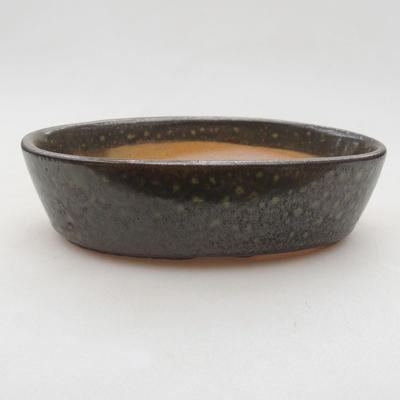 Ceramic bonsai bowl 14 x 9.5 x 4 cm, color green - 1