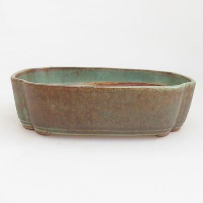Ceramic bonsai bowl 17.5 x 13 x 4.5 cm, color green - 1