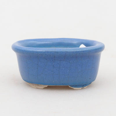 Mini bonsai bowl 4,5 x 4 x 2 cm, color blue - 1