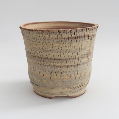 Ceramic bonsai bowl 14 x 14 x 13 cm, color beige - 1