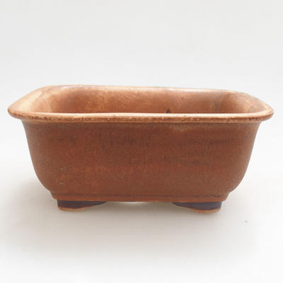 Ceramic bonsai bowl 13 x 10 x 5.5 cm, brick color - 1