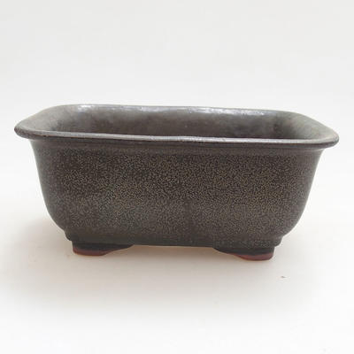 Ceramic bonsai bowl 13 x 10 x 5.5 cm, gray color - 1
