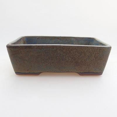 Ceramic bonsai bowl 11.5 x 8.5 x 4 cm, color blue-gray - 1