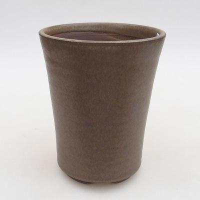 Ceramic bonsai bowl 10 x 10 x 13 cm, color brown - 1