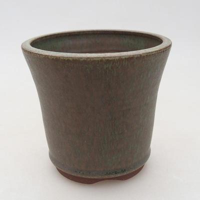 Ceramic bonsai bowl 10 x 10 x 9.5 cm, color brown-green - 1