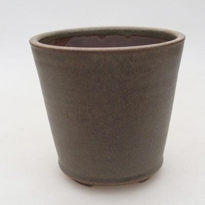 Ceramic bonsai bowl 10.5 x 10.5 x 10 cm, color brown-green - 1