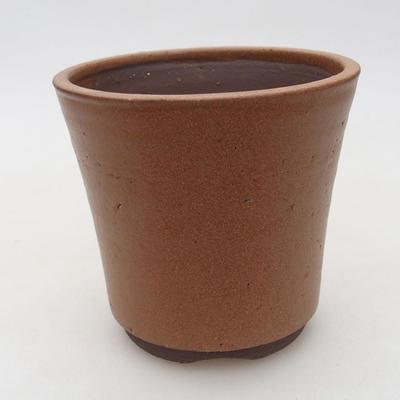 Ceramic bonsai bowl 10 x 10 x 9.5 cm, color brown - 1