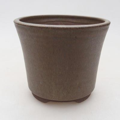 Ceramic bonsai bowl 11 x 11 x 9 cm, color brown - 1