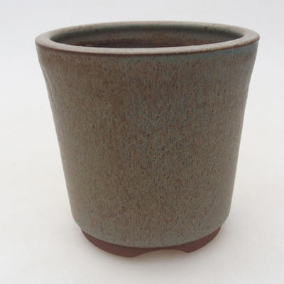 Ceramic bonsai bowl 10 x 10 x 10 cm, color blue - 1