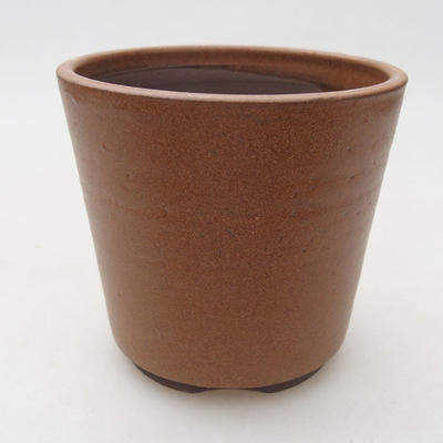 Ceramic bonsai bowl 10 x 10 x 9.5 cm, color brown - 1