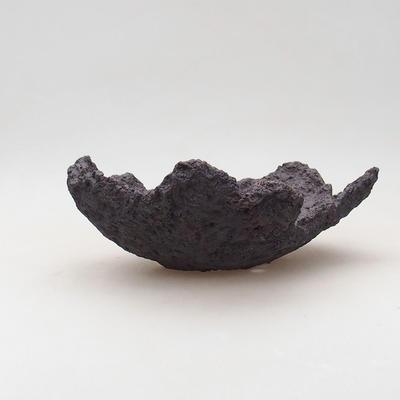Ceramic Shell 19 x 16 x 8 cm, gray-brown - 1