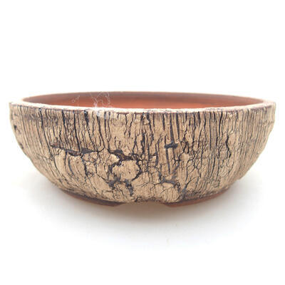Ceramic bonsai bowl 15 x 15 x 5 cm, color cracked - 1