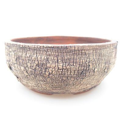 Ceramic bonsai bowl 13.5 x 13.5 x 5.5 cm, color cracked - 1