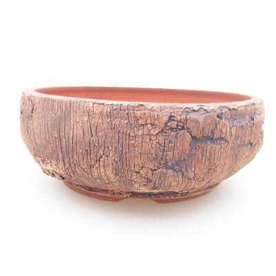Ceramic bonsai bowl 16 x 16 x 6 cm, color cracked - 1