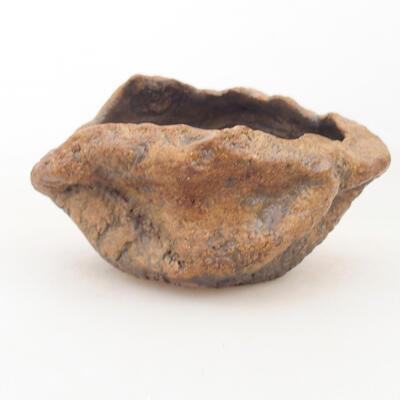 Ceramic shell 8 x 5.5 x 6 cm, brown color - 1