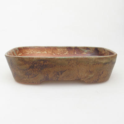 Ceramic bonsai bowl 23 x 18 x 5 cm, color brown-green - 1