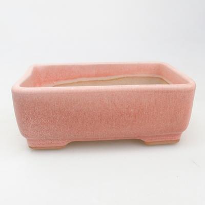 Ceramic bonsai bowl 14.5 x 10.5 x 5 cm, pink color - 1