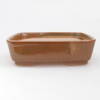 Ceramic bonsai bowl 15 x 12 x 4.5 cm, brown color - 1