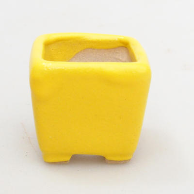 Mini bonsai bowl 3 x 3 x 3 cm, yellow color - 1