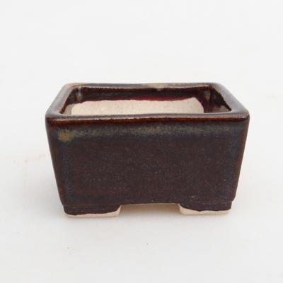 Mini bonsai bowl 4 x 3,5 x 2,5 cm, color brown - 1