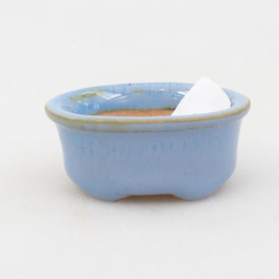 Mini bonsai bowl 4,5 x 3,5 x 2 cm, color blue - 1