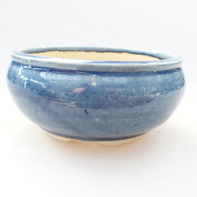 Ceramic bonsai bowl 11 x 11 x 5.5 cm, color blue - 1