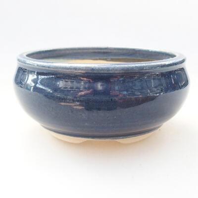 Ceramic bonsai bowl 10 x 10 x 5 cm, color blue - 1