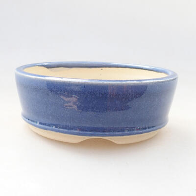 Ceramic bonsai bowl 11.5 x 11.5 x 4 cm, color blue - 1