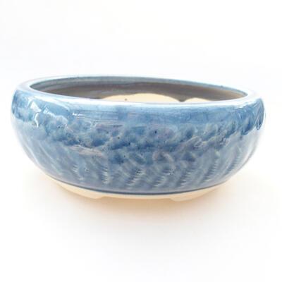 Ceramic bonsai bowl 14 x 14 x 5.5 cm, color blue - 1
