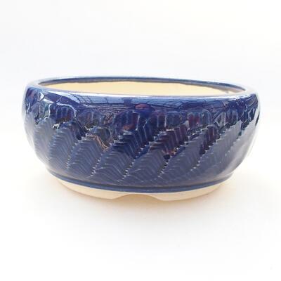 Ceramic bonsai bowl 13.5 x 13.5 x 6 cm, color blue - 1
