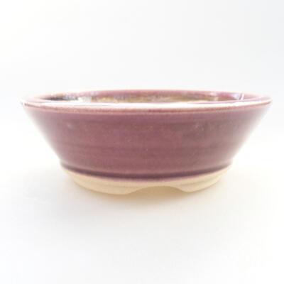 Ceramic bonsai bowl 11.5 x 11.5 x 4 cm, color purple - 1