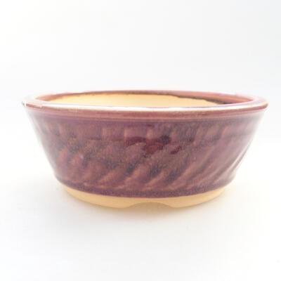 Ceramic bonsai bowl 13.5 x 13.5 x 5 cm, color purple - 1