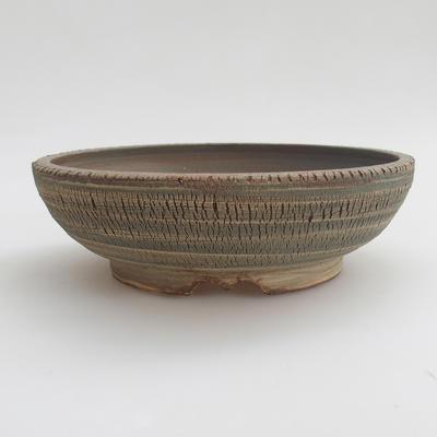Ceramic bonsai bowl 18,5 x 18,5 x 6 cm, color gray - 1