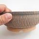 Ceramic bonsai bowl 17 x 17 x 6 cm, brown-blue color - 1/4