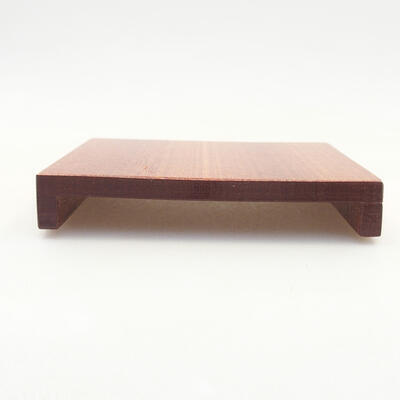 Wooden table under the bonsai brown 10 x 8 x 1.5 cm - 1