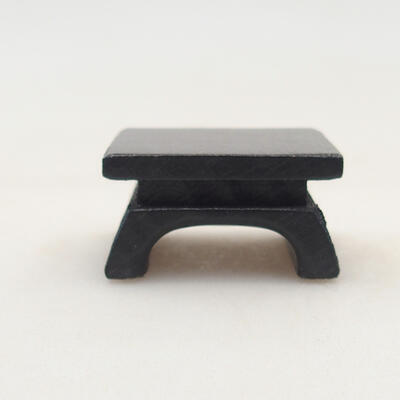 Wooden table under the bonsai brown 3 x 3 x 1.5 cm - 1