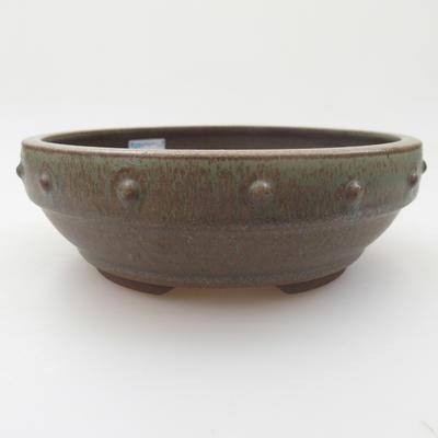 Ceramic bonsai bowl - 16,5 x 16,5 x 5,5 cm, color green - 1