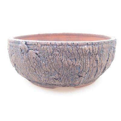 Ceramic bonsai bowl 15 x 15 x 6 cm, color cracked - 1