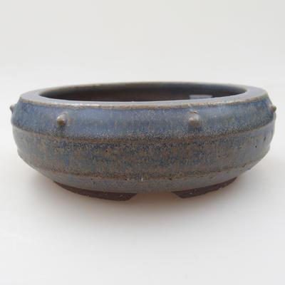 Ceramic bonsai bowl - 15 x 15 x 5 cm, color blue - 1