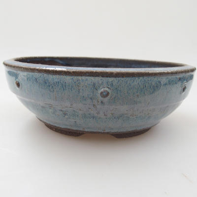 Ceramic bonsai bowl - 18 x 18 x 6 cm, color blue - 1