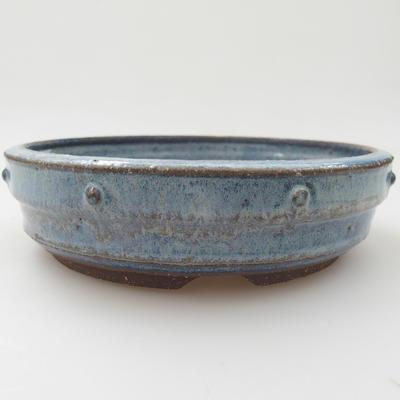 Ceramic bonsai bowl - 18,5 x 18,5 x 5 cm, color blue - 1