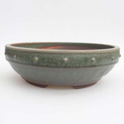 Ceramic bonsai bowl - 24 x 24 x 7 cm, color green - 1
