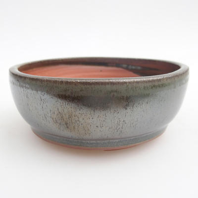Ceramic bonsai bowl 11 x 11 x 4,5 cm, color green - 1