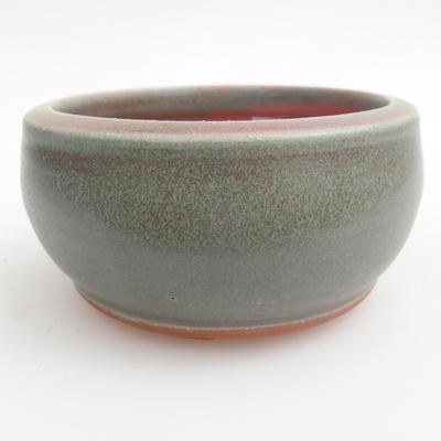 Ceramic bonsai bowl 10 x 10 x 5 cm, color green - 1