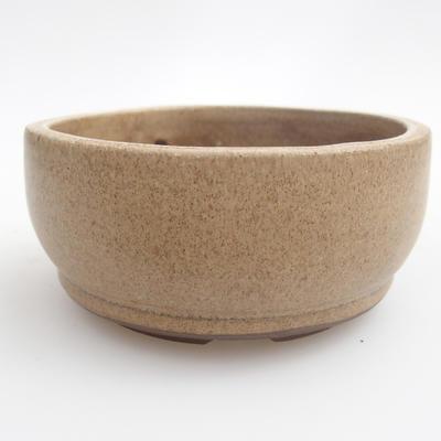 Ceramic bonsai bowl 10 x 10 x 4,5 cm, color beige - 1